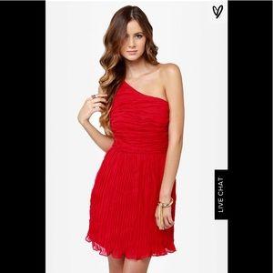 BB Dakota Red One Shoulder Dress 